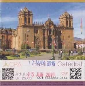 Boleto catedral cusco